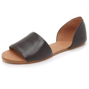 Madewell Thea D'Orsay Open Toe Flat Sandal Black